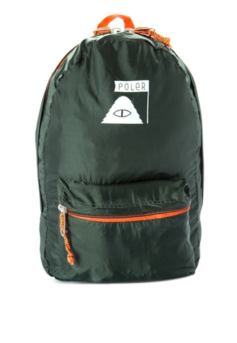 Poler green Stuffable Backpack 2093BACB29AE47GS_1