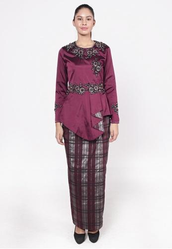 Kurung Lipat Purple from HESHDITY in Purple