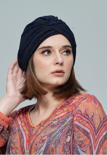 KASHKHA blue Jersey,Easy To Style Turban 18175AAC5D36F7GS_1