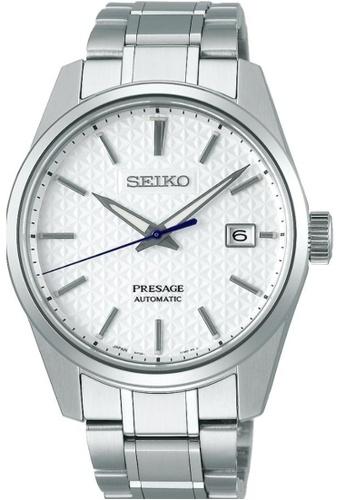 SEIKO silver Seiko Presage SPB165J1 White and Silver Stainless Steel Watch 0241FAC26C8265GS_1