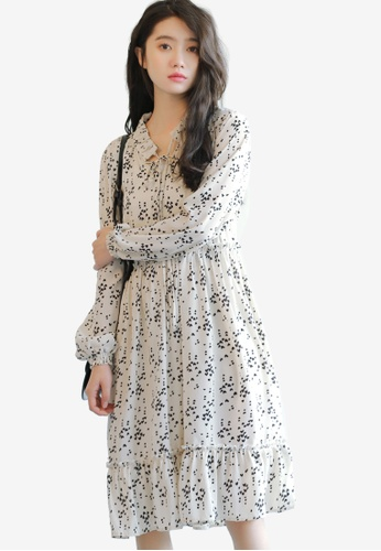 Shopsfashion white Printed Fit And Flare Dress 90835AABCFF1BCGS_1
