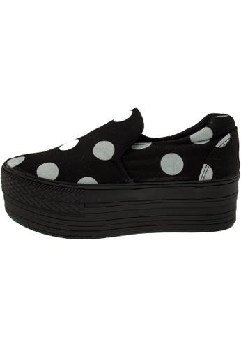 Maxstar 黑色 新款韩国鞋C50-Span-Dot時尚帆布布混合女黑色 US Women Size MA345SH40GVNTW_1