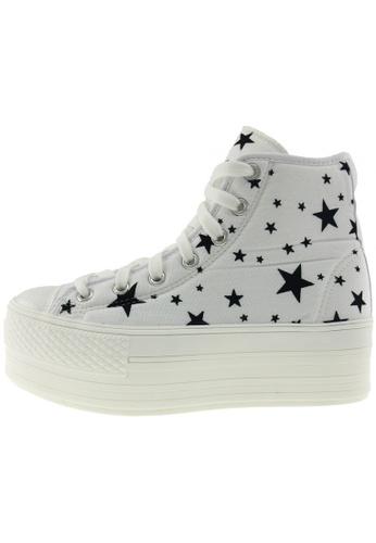 Maxstar 白色 新款韩国鞋C50-7H-Star時尚帆布布混合女白色 US Women Size MA345SH11GWQTW_1