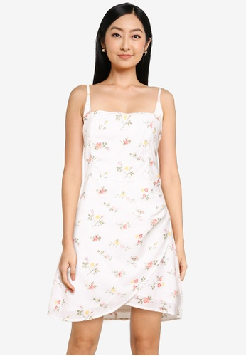 Abercrombie & Fitch white Bare Wrap Short Dress 3130EAA02892C3GS_1