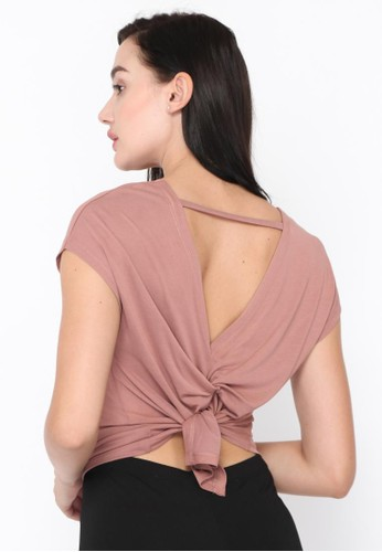 Jauw Active pink and beige Tuscan Mauve Tshirt 7A8F0AA25975BBGS_1