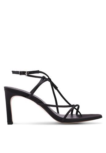 Mango black Decorative Strap Heels 73CA8SH4C209EAGS_1