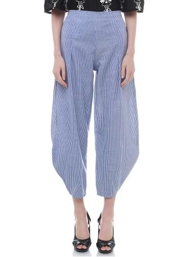 Lustre Hanna Stripe Pants Blue