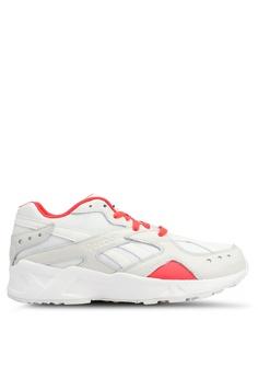 dba1c21ae92 Reebok black and red and beige Classic Gigi Hadid X Reebok Aztrek Sneakers  44E79SH7B9357CGS 1
