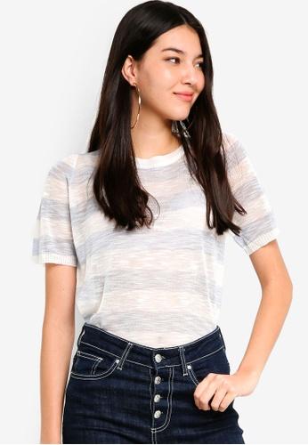 Tokichoi blue Relaxed Stripes T-Shirt B9D5CAA72722A8GS_1