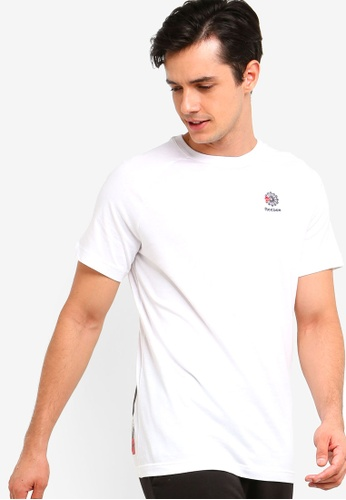 df77d3fa4adcb2 Reebok white Classics Foundation AC F Short Sleeve Longer Tee  FD4E5AAC853D73GS 1