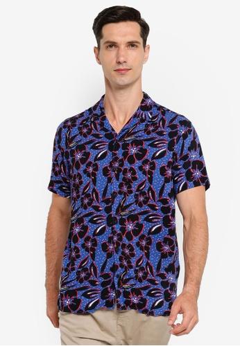 Jack & Jones blue Enrique Floral Short Sleeve Shirt D8561AAB472373GS_1