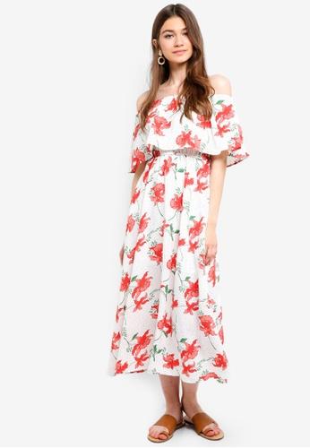 435cc5559f8e Shop Something Borrowed Off Shoulder Midi Dress Online on ZALORA Philippines