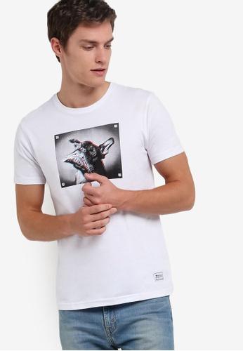 UniqTee white Frenchie 3D Graphic T-Shirt UN097AA53REGMY_1