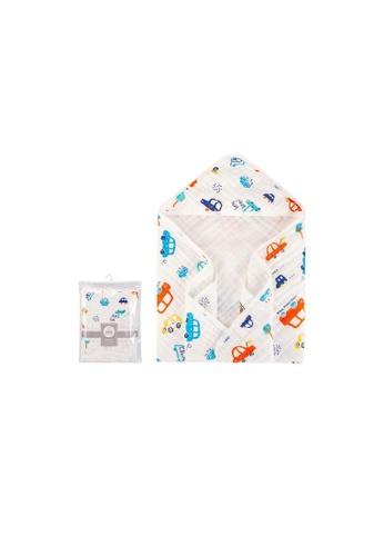 Little Kooma white Bebe Comfort Baby Muslin Hooded Swaddle Blanket 76 x 76cm BC51501 2F236KC5632E09GS_1