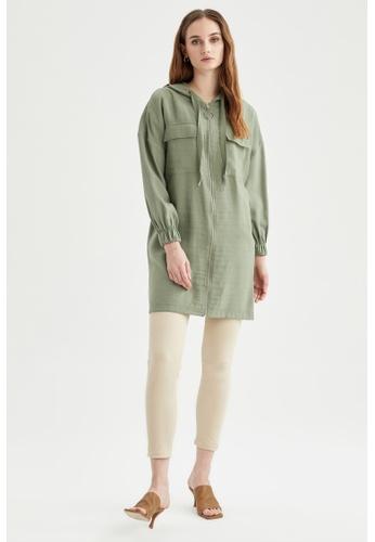 DeFacto green Long Sleeve Tunic FD537AA800EF6FGS_1