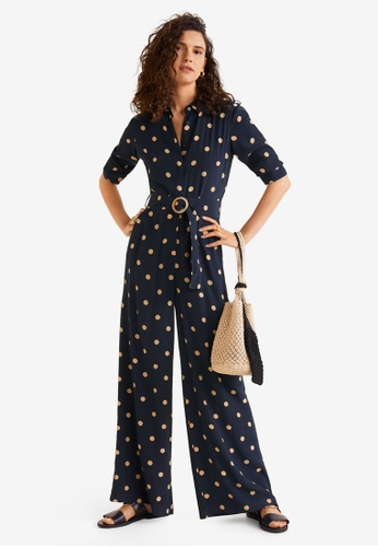 c1737d48e731 Buy Mango Polka Dot Long Jumpsuit