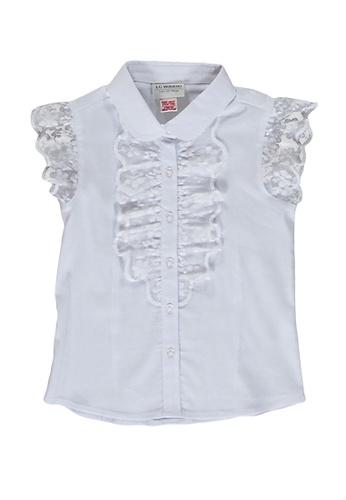 LC Waikiki white Girl's Lace Detailed Shirt 013B4KA0905454GS_1