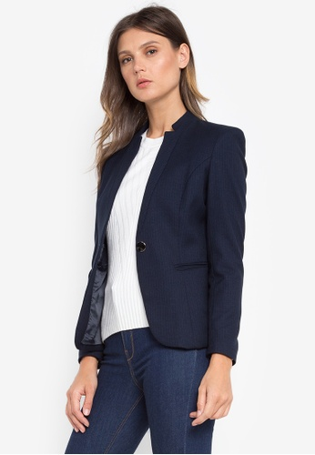 Well Suited blue Star Collar Stripe Blazer 41138AAF043B20GS_1