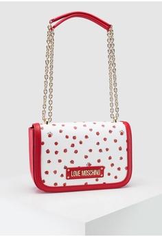 753d9ad037 Love Moschino white Ladybird Printed Saffiano Shoulder Bag  FDAD1ACBDD3232GS_1