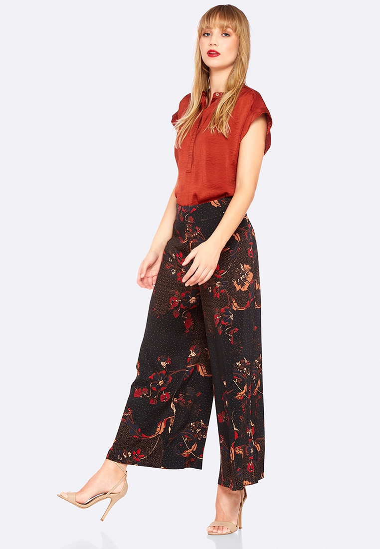 Pant Oxford Jemma Printed Black Red xTUnz8pwUH