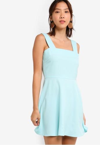 Something Borrowed 綠色 Sleeveless Fit & Flare Dress 2C4BCAA1EBC2C3GS_1