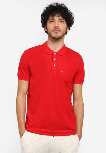 JAXON red Patch Pocket Polo Shirt C24A7AAE661431GS_1