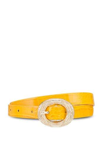 Dorothy Perkins yellow Mustard Skinny Belt 2A21AAC787CD47GS_1