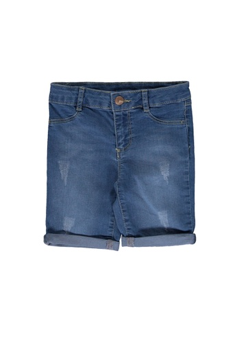 LC Waikiki grey Girl's Jean Shorts 47F91KA5630365GS_1