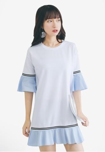 Shopsfashion white Colour Block Shift Dress C779DAADCCA8CEGS_1