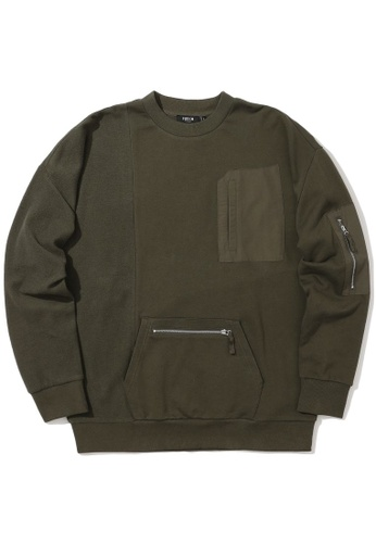 Fivecm green Patched pocket sweeatshirt 0F20CAAF9A7CD7GS_1
