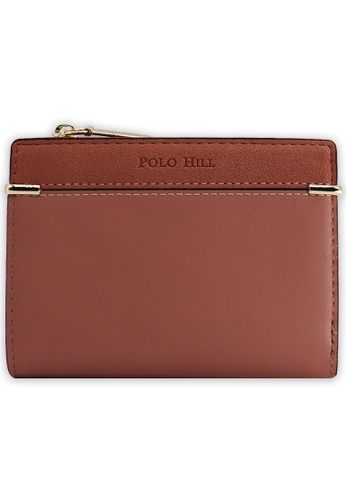 POLO HILL brown and red POLO HILL Ladies Classy Short Purse C5ABBAC38FDD26GS_1