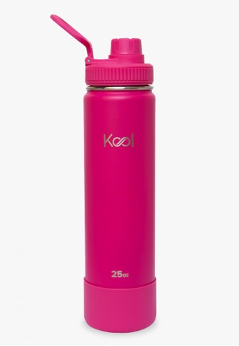 Kool PH pink 25 oz Insulated Stainless Steel Water Bottle With Silicone Boot AF7B8ACAFCE9F6GS_1