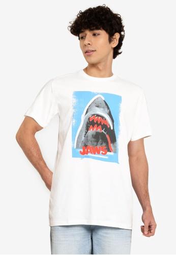 Springfield white Jaws T-Shirt FFD3DAAD028873GS_1