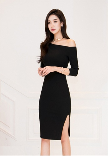 25cf1490f60b69 Buy Crystal Korea Fashion New Off Shoulder Dress Online on ZALORA ...