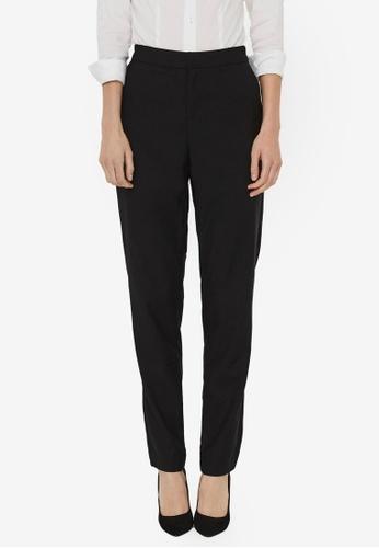 Vero Moda black JANE MR TAP ANKLE SOLID PANTS F229DAA8296A75GS_1