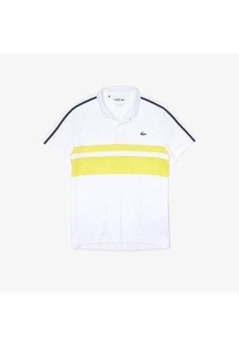 Lacoste white Men's Lacoste SPORT Breathable Resistant Pique Tennis Polo Shirt E5E74AA18A420FGS_1