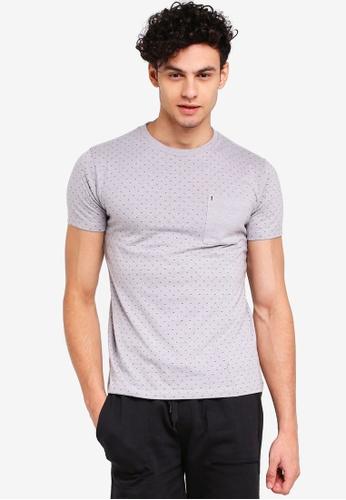 Penshoppe 灰色 短袖印花T恤 CCBD1AAD62E9CCGS_1