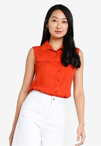 ZALORA BASICS orange Sleeveless Shirt 96119AA538C14EGS_1