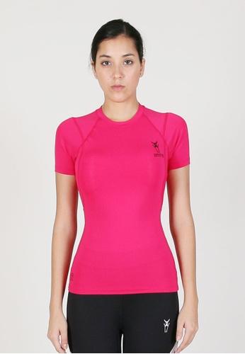 AMNIG pink Women Maxforce Agile Compression Short Sleeve Top (Pink) 54877AAAB25F43GS_1