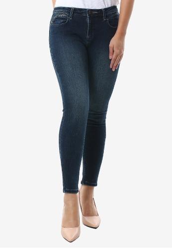 JAG navy Ladies Highback Ankle Jeans D31DDAA76C600FGS_1