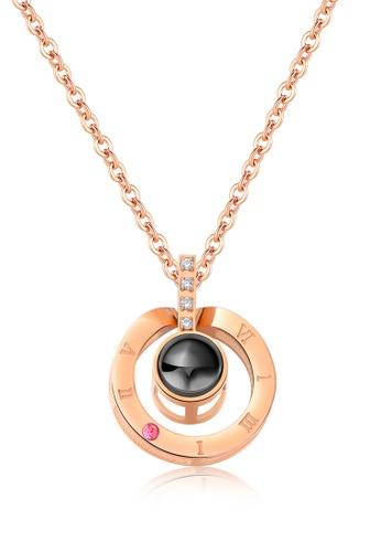 Trendyshop gold Roman Dial Pendant Necklace 1B9E8ACA9F6FEBGS_1