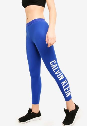 Calvin Klein blue Side Logo 7/8 Leggings - Calvin Klein Performance 7EAC2AAE7D71D0GS_1