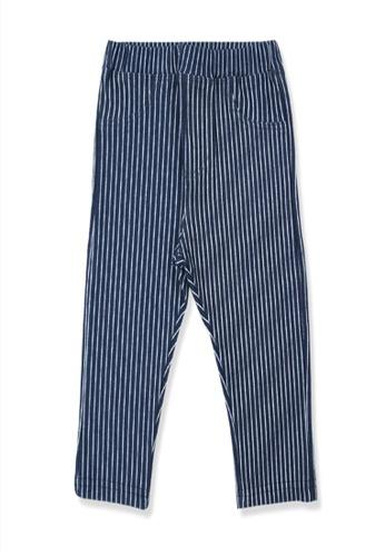 Organic mom black and blue Organic Cotton  Albert Striped Pants 60CABKABC0B6D0GS_1