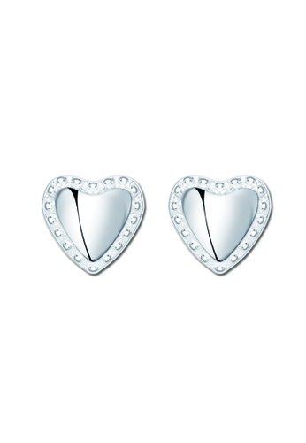 SC Tom Silver silver Heart with pearl Stud Earring  SC872AC81TAKPH_1