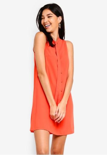 ZALORA orange Pussy Bow Dress A33A3AA0D45911GS_1