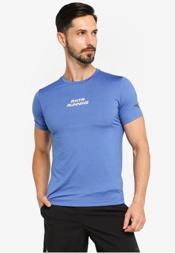 Anta blue Running Short Sleeves Tee DF87CAA9DA7D46GS_1