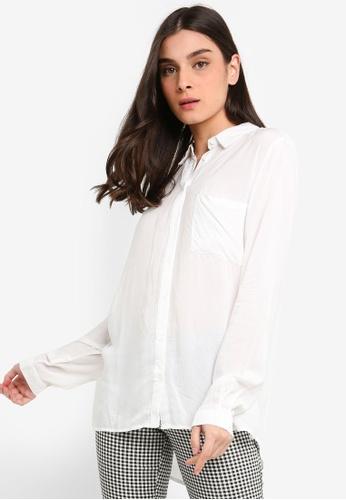 OVS white Viscose Shirt With Pocket 039BAAA7289B7BGS_1