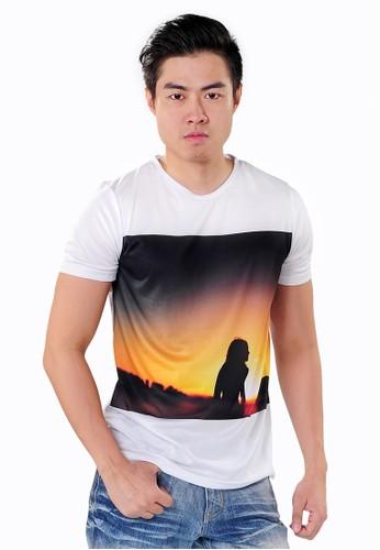 SJO & SIMPAPLY white SPP New Guild Sunset White Men's Shirt EA874AAB7EBD76GS_1