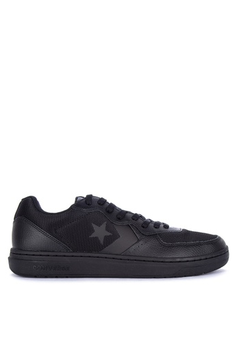 Converse black Rival Leather Sneakers 5C841SHAFE01EDGS_1