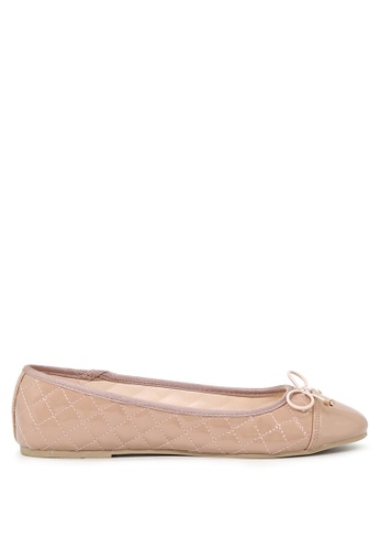 London Rag beige Nude Lined Petunia Ballerina Flats SH1692 83F7CSHDC56C58GS_1